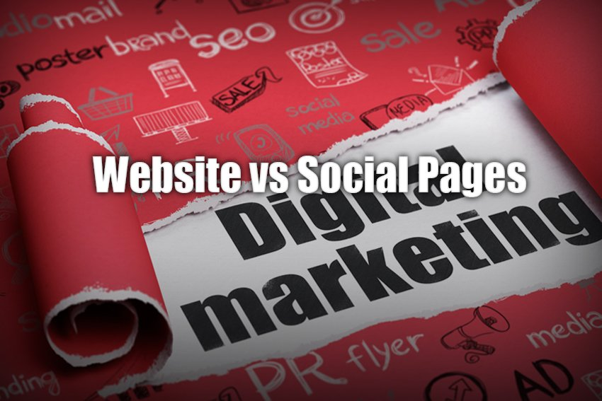 Website vs Social Pages
